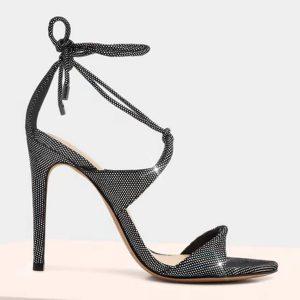 ALEXANDRE BIRMAN - Holograficzne sandały na szpilce Aimee.