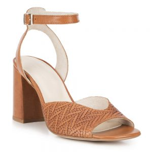 Damskie sandały z tłoczonej skóry.