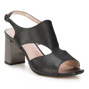 Damskie sandały z gładkiej skóry.